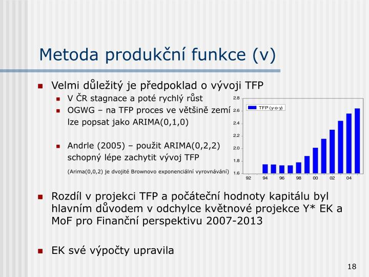 Metoda produkční funkce (v)