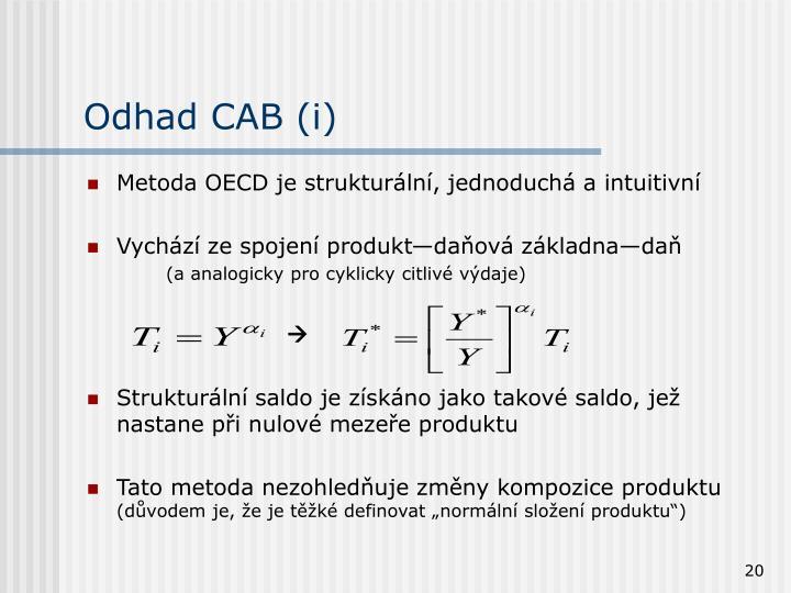 Odhad CAB (i)