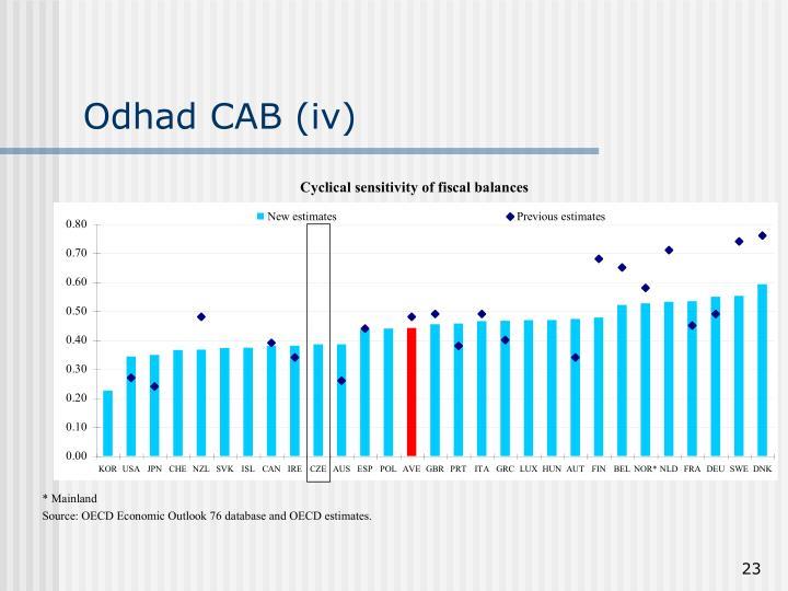 Odhad CAB (iv)