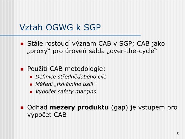 Vztah OGWG k SGP