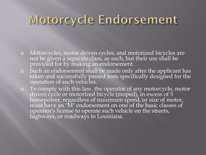 Motorcycle Endorsement