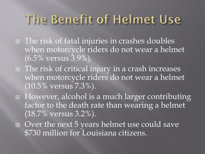The Benefit of Helmet Use