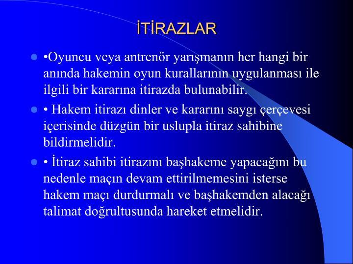 İTİRAZLAR
