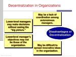 decentralization in organizations1