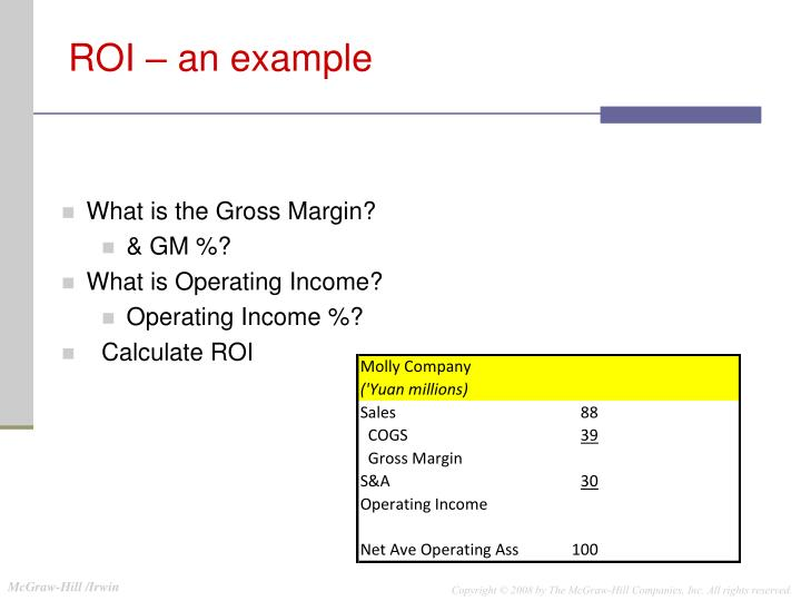 ROI – an example