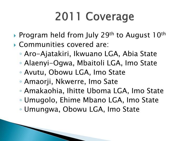 2011 Coverage