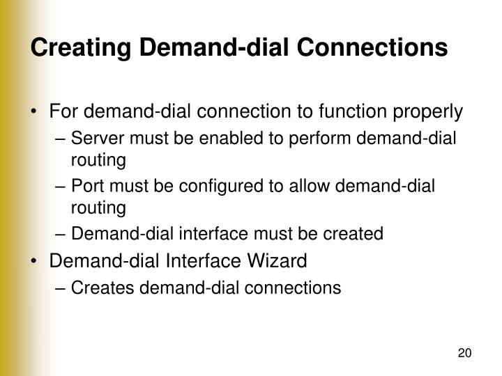 Creating Demand-dial Connections