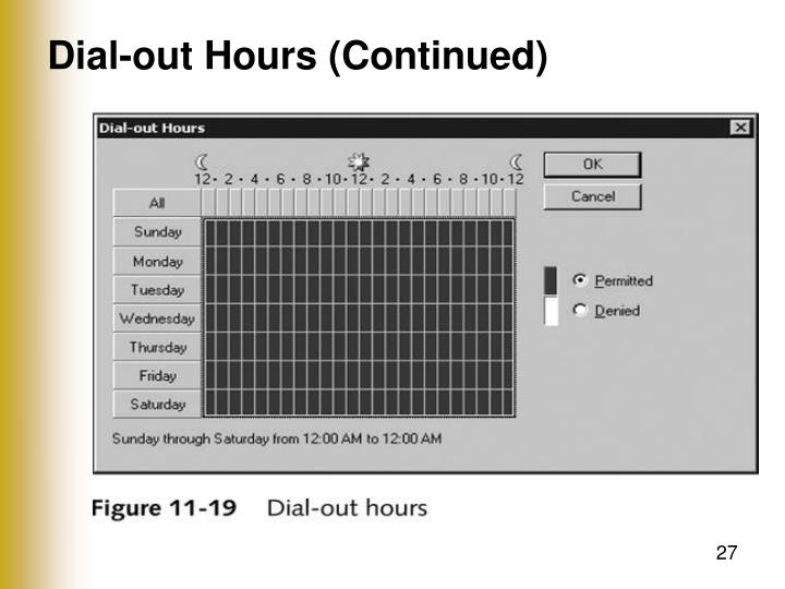 Dial-out Hours (Continued)