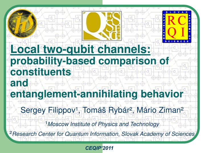 Local two-qubit channels:
