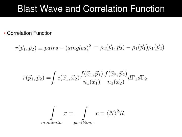 Blast Wave and Correlation Function