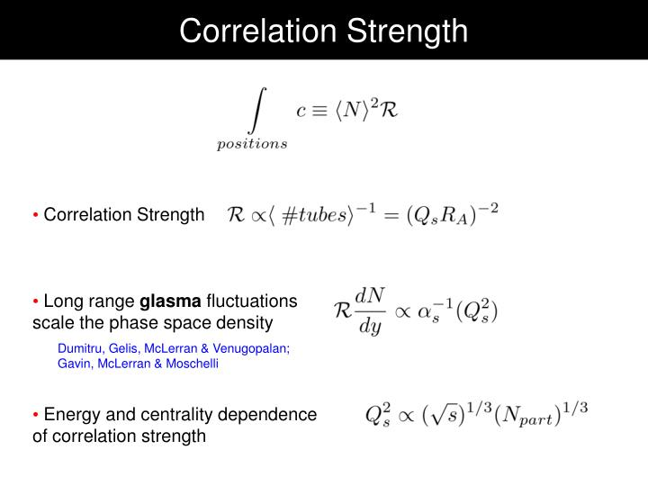 Correlation Strength
