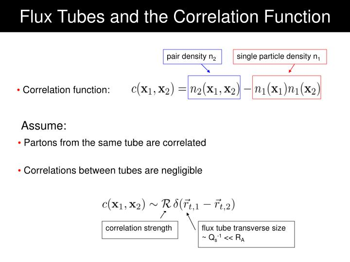 Flux Tubes and the Correlation Function