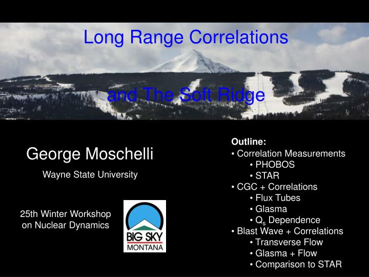 Long range correlations and the soft ridge