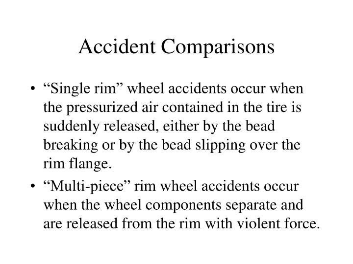 Accident Comparisons