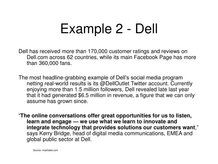 Example 2 - Dell