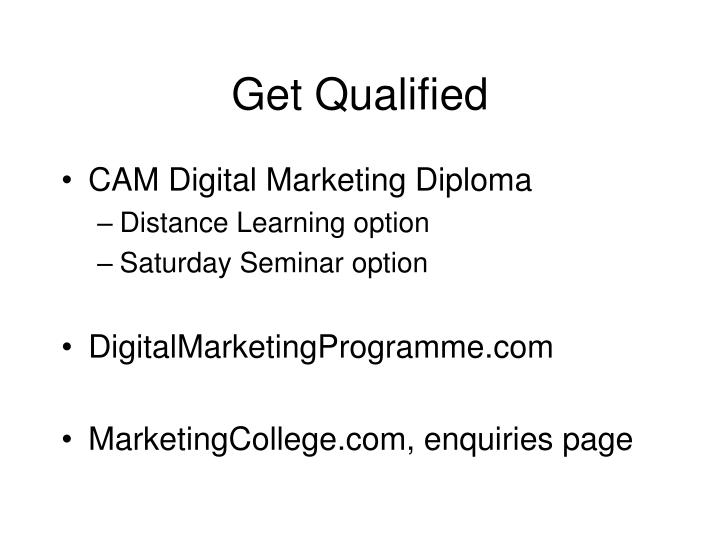 Get Qualified