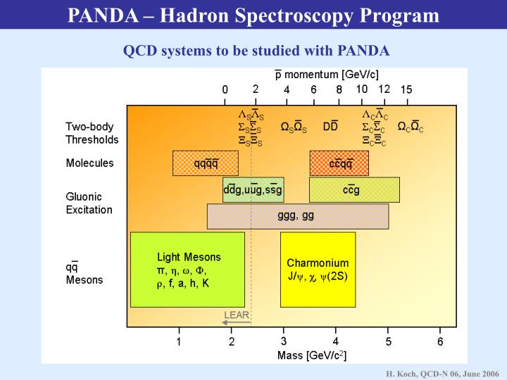 PANDA – Hadron Spectroscopy Program
