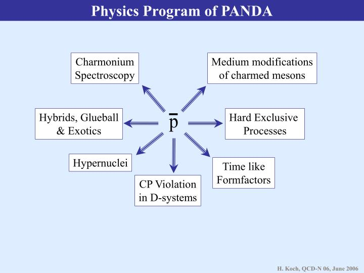 Physics Program of PANDA