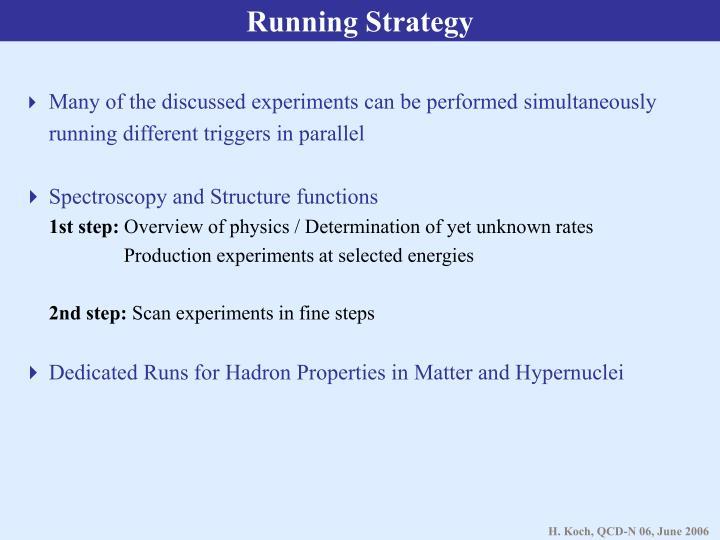 Running Strategy