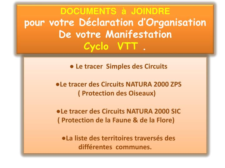 DOCUMENTS  à  JOINDRE