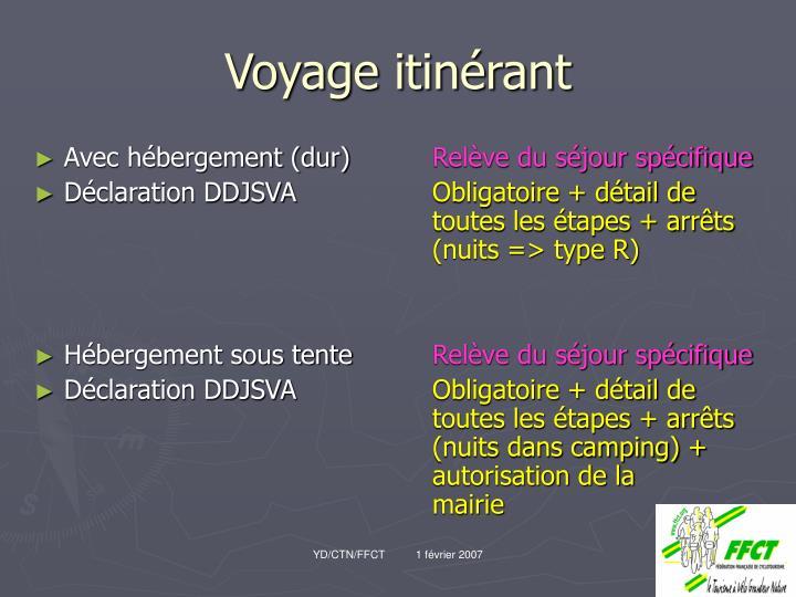 Voyage itinérant