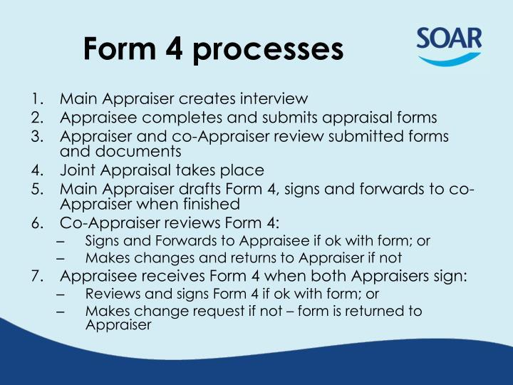 Form 4 processes