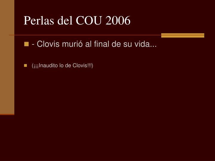 Perlas del COU 2006