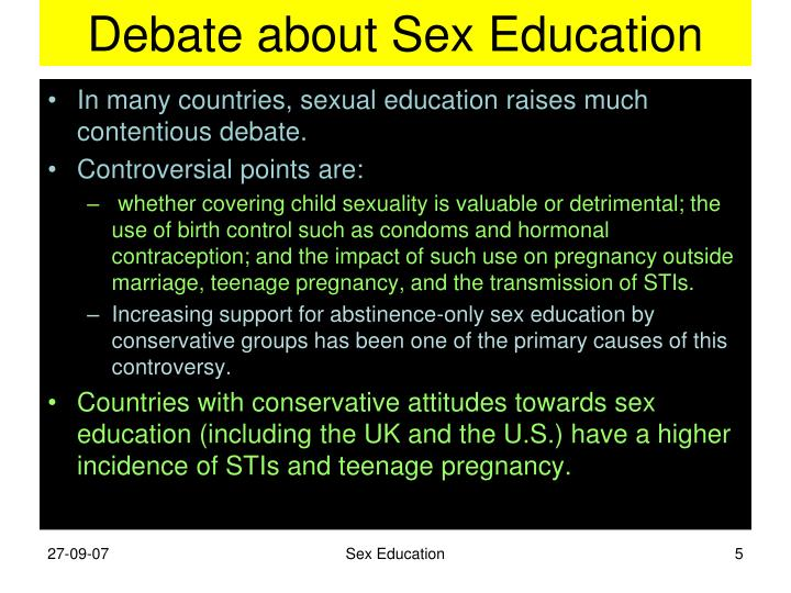 Debate about Sex Education