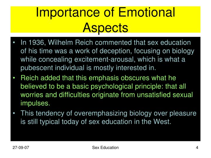Importance of Emotional Aspects