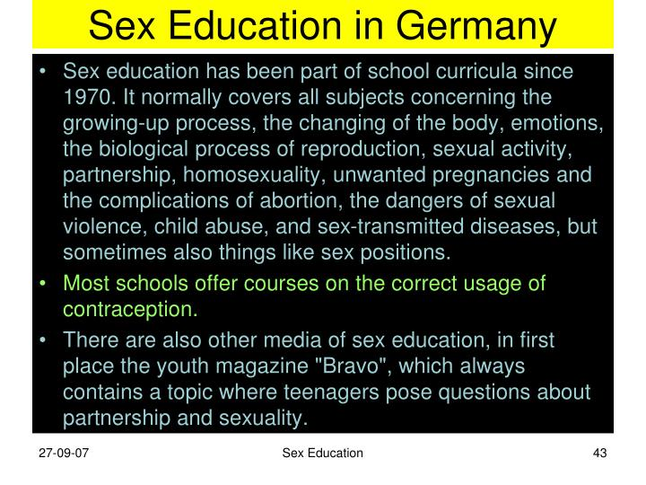 Sex Education in Germany