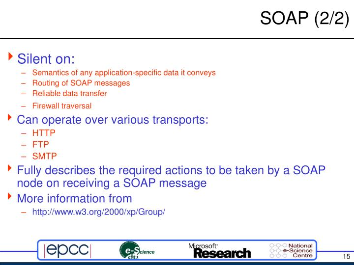 SOAP (2/2)