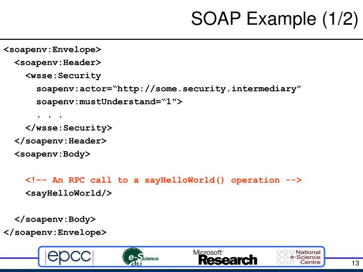 SOAP Example (1/2)
