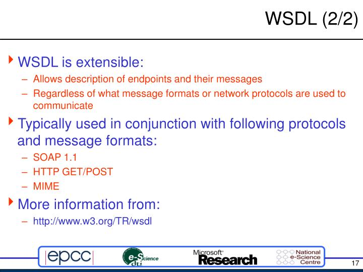WSDL (2/2)