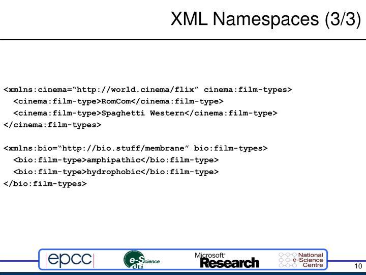 XML Namespaces (3/3)