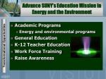 advance suny s education mission in energy and the environment