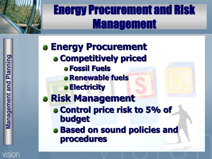 Energy Procurement and Risk Management