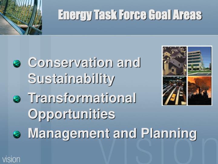 Energy Task Force Goal Areas
