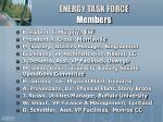 energy task force members