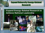 expand university energy related research