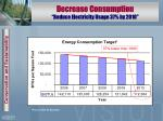reduce consumption decrease electricity usage 37 by 2014