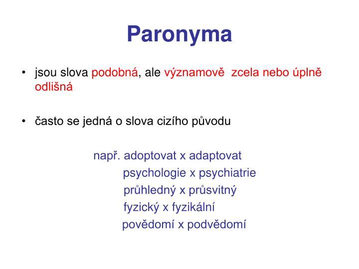 Paronyma