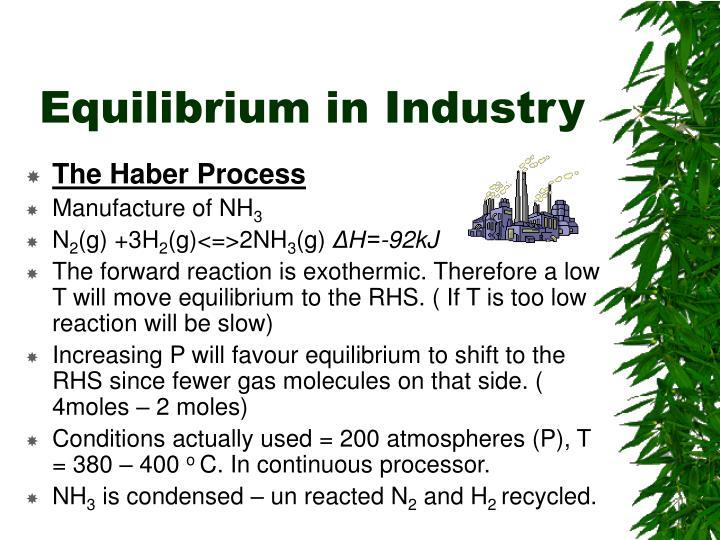 Equilibrium in Industry