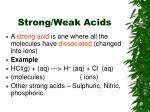 strong weak acids