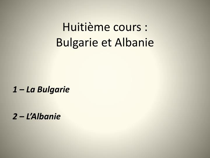 Huitime cours: