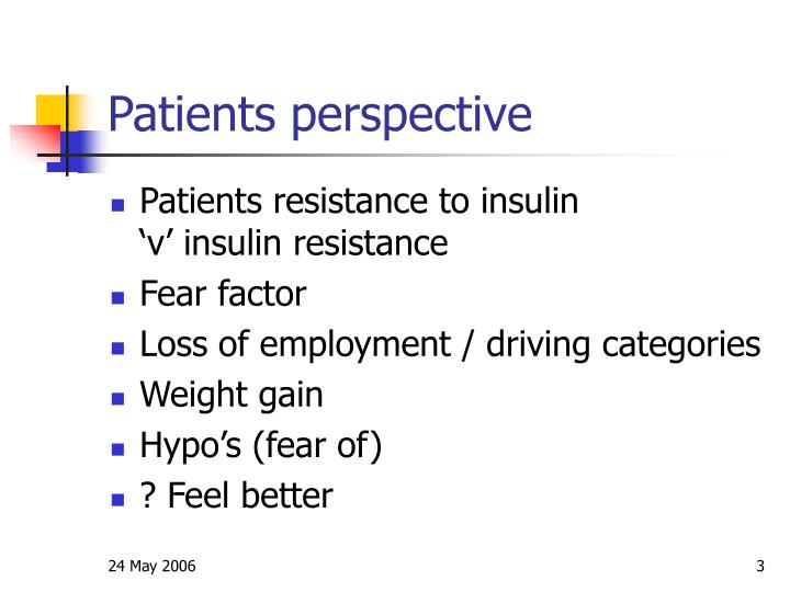 Patients perspective