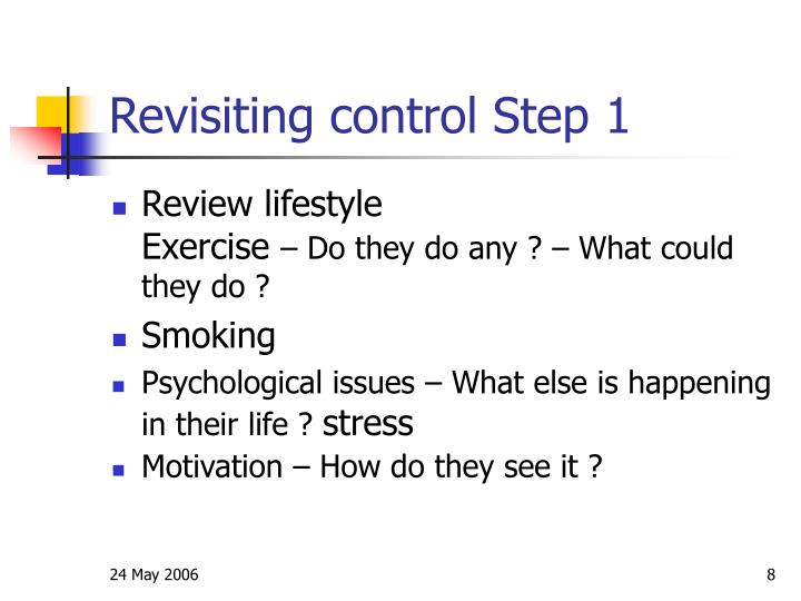 Revisiting control Step 1