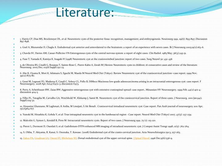 Literature: