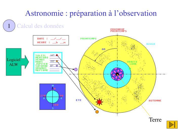 Astronomie : préparation à l'observation