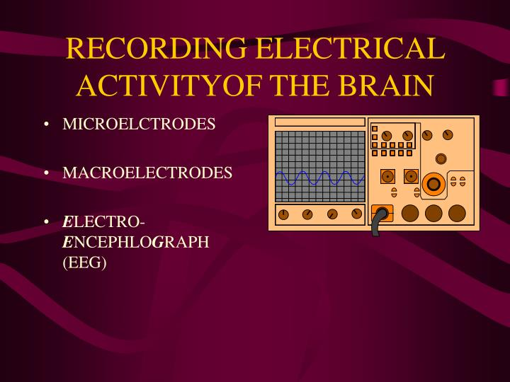 RECORDING ELECTRICAL ACTIVITYOF THE BRAIN