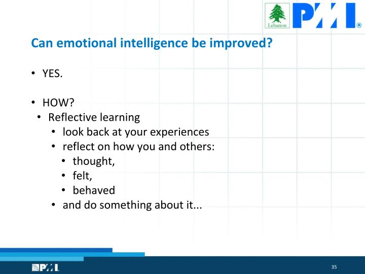 Can emotional intelligence be improved?